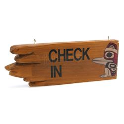 The Great Northern' Hotel's Check-In Sign - TWIN PEAKS (1990 - 1991)