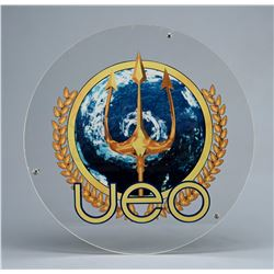 United Earth Oceans Round Clear Acrylic Insignia Sign - SEAQUEST DSV (1993 - 1996)