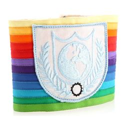 Earth Defense Directorate Globe Logo Rainbow Armband - BUCK ROGERS IN THE 25TH CENTURY (1979 - 1981)