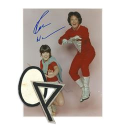 Orkan Egg Patch and Mork (Robin Williams) Signed Color Photograph - MORK & MINDY (1978 - 1982)