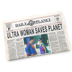 'Ultra Woman Saves Planet' Daily Planet Newspaper - LOIS & CLARK: THE NEW ADVENTURES OF SUPERMAN (19