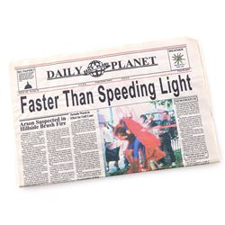 'Faster Than Speeding Light!' Daily Planet Newspaper - LOIS & CLARK: THE NEW ADVENTURES OF SUPERMAN