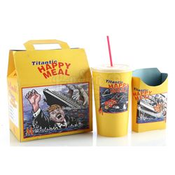 'Titanic Happy Meal' Box, Fry Container and Soda Cup - MADTV (1995 - 2009)