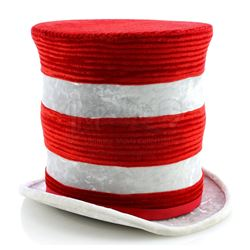 The Cat In The Hat's (Matt Frewer) Collapsible Striped Top Hat - IN SEARCH OF DR. SEUSS (1994)