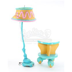 Dr. Seuss-Style Floor Lamp and Round Yellow Side Table With Turning Top - IN SEARCH OF DR. SEUSS (19