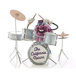 Beebop's California Raisin Puppet and Drum Kit Replica Signed By Will Vinton - CALIFORNIA RAISINS (B