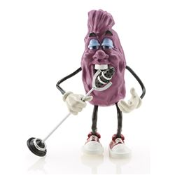A.C.'s California Raisin Puppet and Microphone Replica On Stand Signed By Will Vinton - CALIFORNIA R