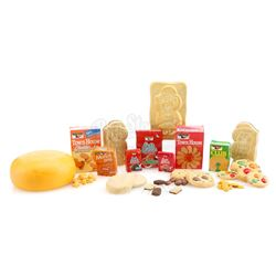 Collection Of Elves-Scale Cookies, Product Boxes and Cheese Wheel - KEEBLER BAKED GOODS COMMERCIALS