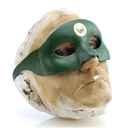 Green Hornet's (Van Williams) Plaster Face Cast and Signed Toy Mask - THE GREEN HORNET (1966 - 1967)