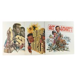 Three NBC 1960s Promotional Posters - GET SMART (1965 - 1970) / I SPY (1965 - 1968) / THE MAN FROM U