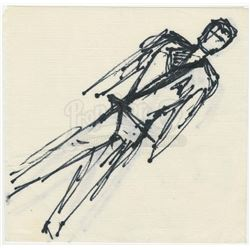 William Ware Theiss Hand-Drawn Sketches Of Starfleet Uniforms and Other Costumes - STAR TREK: THE OR