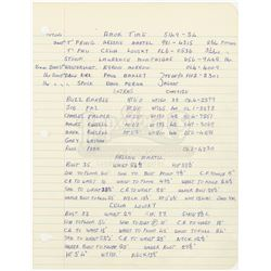 William Ware Theiss' Hand Written List Of Actors and 18 Costume Invoices From 'Amok Time' - STAR TRE
