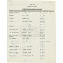 'Star Trek' Staff & Crew Lists From 1967 & 1968 - STAR TREK: THE ORIGINAL SERIES (1966 - 1969)