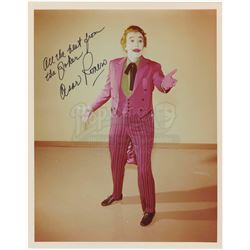 Five Studio Promotional Photos Signed By Robin, The Riddler, The Joker, Catwoman, Mr. Freeze and Egg