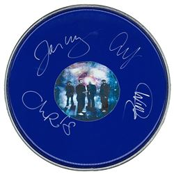 Coldplay Signed Drum Head