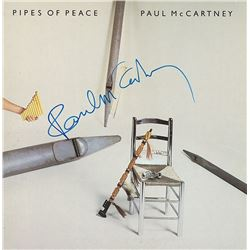 Paul McCartney Signed Pipes Of Peace Album