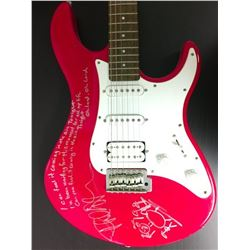 Phil Collins Red Electric Guitar w/ Handwritten Lyrics