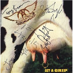 Aerosmith Signed Get a Grip Album