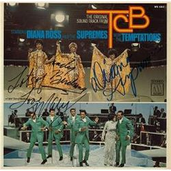 The Supremes Signed The Supremes, Diana Ross, and The Temptations Album