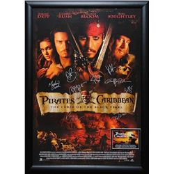 Pirates of the Caribbean: The Curse of the Black Pearl - Signed Movie Poster