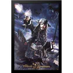 Pirates of the Caribbean Dead Men Tell No Tales - Signed Movie Poster