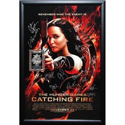 Hunger Games Catching Fire - Signed Movie Poster