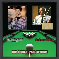 Paul Newman and Tom Cruise Signed The Color of Money Collage