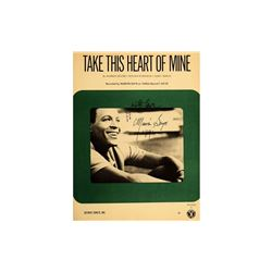 Marvin Gaye Signed Take This Heart of Mine Album