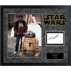 Star Wars George Lucas Signed Collage
