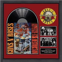 Guns n Roses Appetite for Destruction Banned Cover Art Signed by Band and Artist