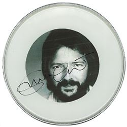 Eric Clapton Signed Drum Head