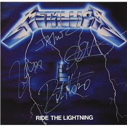 Metallica Signed Ride the Lightning Album