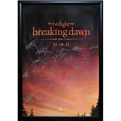 The Twilight Saga: Breaking Dawn - Part 1 - Signed Movie Poster