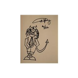Angus Young Signed Sketch