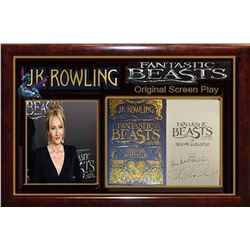 J.K. Rowling Signed Fantastic Beasts and Where to Find Them Book Title Page