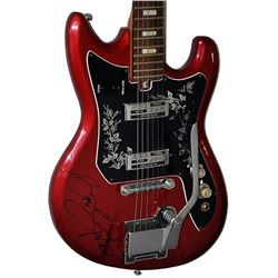 Bruce Springsteen Signed Red Chrome Teisco Guitar