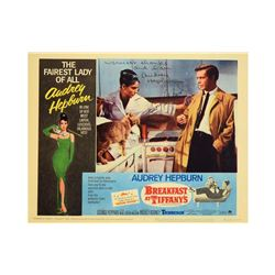 Audrey Hepburn and George Pappard Signed Breakfast at Tiffany's Lobby Card
