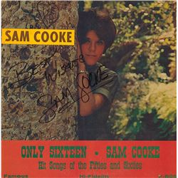 Sam Cooke Signed Only Sixteen Album
