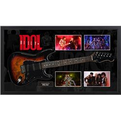 Billy Idol Signed and Framed Guitar