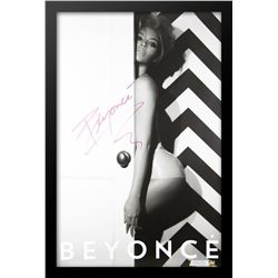 Beyonce Signed Music Poster