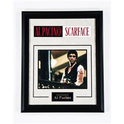 Scarface - Signed Al Pacino - Framed Artist Series