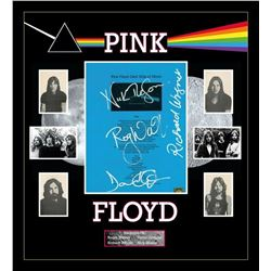 """Pink Floyd signed """"Dark Side of The Moon"""" lyric collage"""
