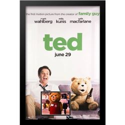 Ted - Movie Poster with Signed Photo by Seth Macfarlane
