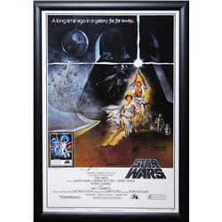 Star Wars A New Hope - Movie Poster Signed by Cast with COA