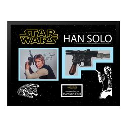 Harrison Ford Signed Photo with Blaster Collage