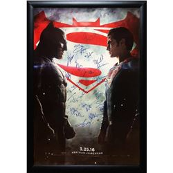 Batman vs Superman - Signed Movie Poster in Wood Frame with COA