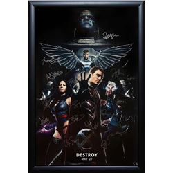 X-Men Apocalypse - Signed by Cast Movie Poster in Wood Frame with COA