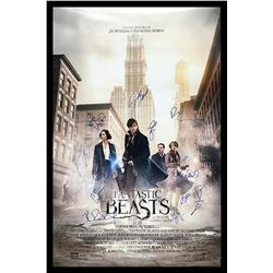 Fantastic Beasts Signed Movie Poster