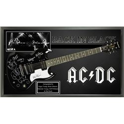 AC/DC 'Back in Black' Autographed Guitar