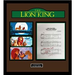 """The Lion King """"Can You Feel The Love Tonight"""" lyric collage."""